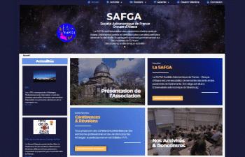 Image de la page d'accueil du site safga.eu optimmiser en référencement naturel SEO