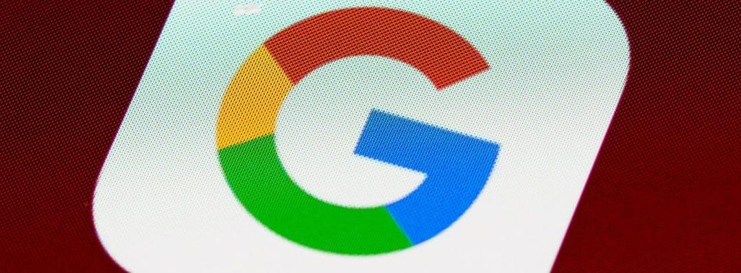 Image du logo de Google sur un mobile